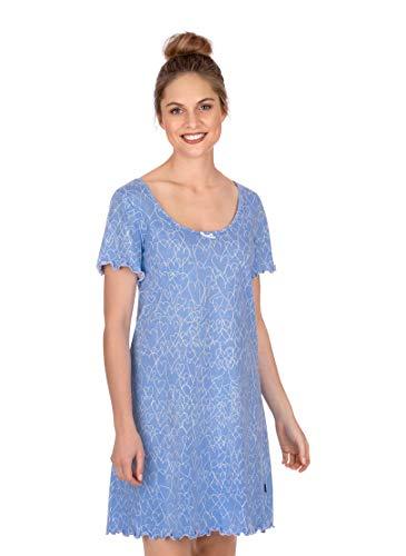 Trigema Damen Nachthemd mit weitem Halsausschnitt