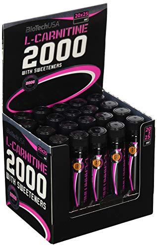 L-Carnitine Ampulle 2000 Ananas-Mango 20 * 25ml - Carnitin-Shots hochdosiert - BiotechUSA