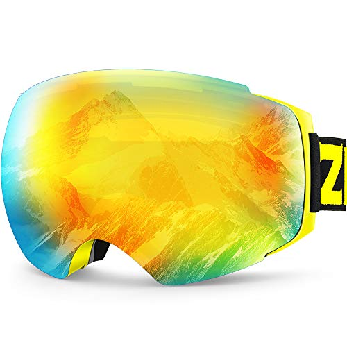 ZIONOR Occhiali da Sci, Lagopus X4 Snowboard Maschera da Sci 100% Protezione UV400 Anti Nebbia...