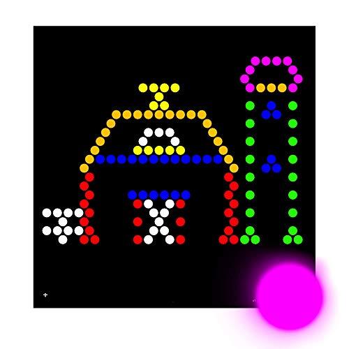 IllumiPeg Farm Refill templates for Lite Brite Cube, Flat-Screen, and Four Share (10 Sheets, 7x7)