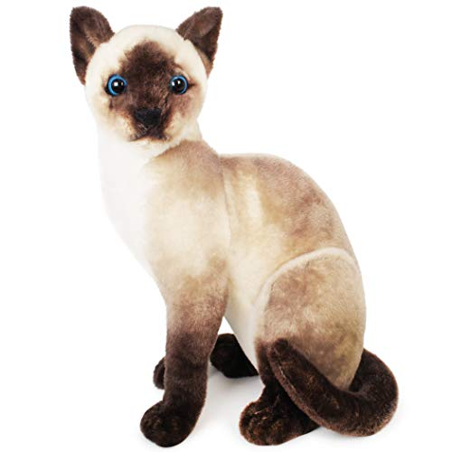 Stefan The Siamese Cat - 14 Inch Stuffed Animal Plush - by Tiger Tale Toys