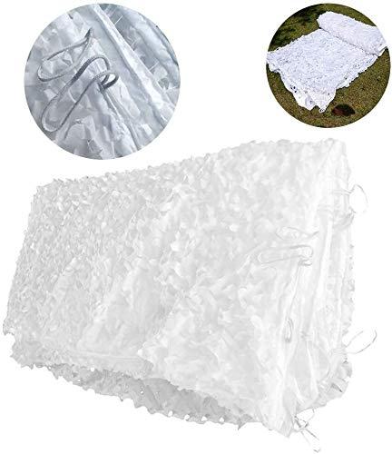 Red de camuflaje blanco de 3 x 4 m, 3 x 5 m, para decoración de balcón o jardín, toldo para terraza, toldo, pérgola, tienda de campaña, toldo de lona 4 x 5 m, 6 x 6 m (tamaño: 5 x 5 m), 5m*10m
