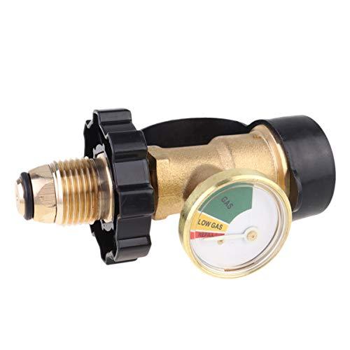UPKOCH Propangas Manometer Füllstandsanzeige Propangas Manometer Druckmesser Lecksucher Universal für Grill Gasgrill Zylinder RV Wohnmobilheizung