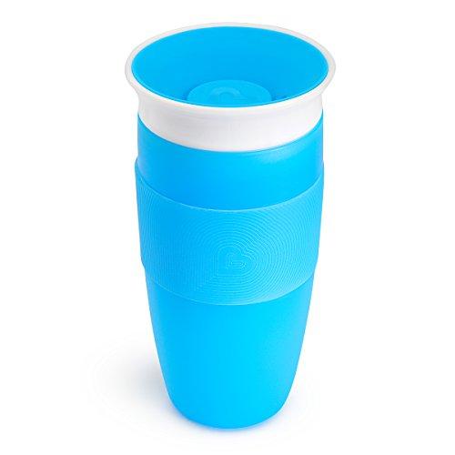 Munchkin Miracle 360ᵒ Trinkbecher, auslaufsicher, ab 18 Monaten, blau, 414 ml
