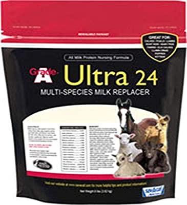 Savacaf Grade A Ultra 24 Multi-Species Milk Replacer, 8 Pound Bag