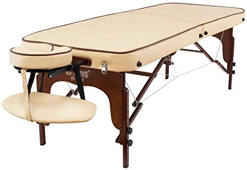 Massage bed Folding Massage Bed, Stevige Houten Massage Bed Thuis Body Treatment SPA Beauty Bed Portable Hand-held, Beige Massage Tafel Draagbare massagetafel