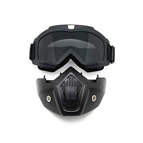 EnzoDate Motorrad Dirt Bike ATV Schutzbrille Maske Abnehmbare Style Schützen Polsterung Helm Sonnenbrille Rennrad UV Motorrad Brille