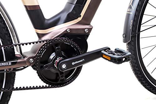 41xUn8FMVGL - 28 Zoll TechniBike City Pedelec E Bike Riemen N330 Nu Vinci Continental Gr.L