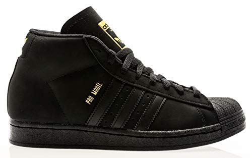 adidas Skateboarding Pro Model, core Black-Gold metallic-Footwear White, 11
