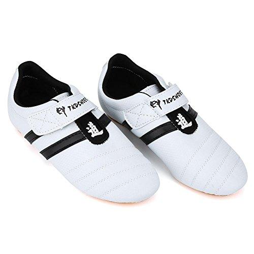 VGEBY1 Taekwondo Schuhe, rutschfeste Rindfleischsehne Taekwondo Sportschuhe Sportausrüstung(36)