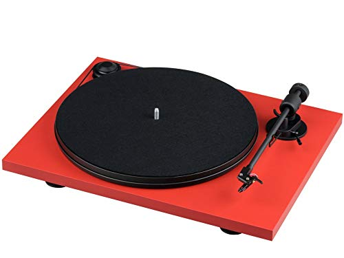 Pro-Ject Primary E, Audiophiler Plug&Play Plattenspieler (Rot)