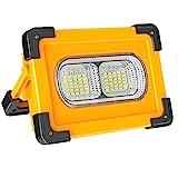 faro luce led portatile 60w, natpow luci da lavoro ricaricabili a led impermeabile 4 modalità di illuminazione sos flash per cantiere campeggio