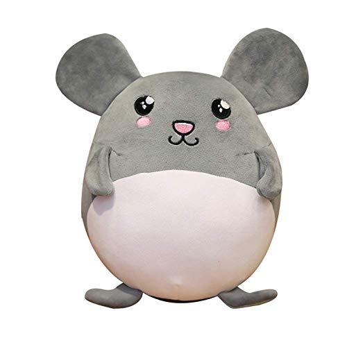 Knuffel, Mooie Grijze Muis Knuffels Zachte Knuffel Vet Rat Pluche Poppen Voor Meisjes Leuke Cartoon Kussen Kussen Cadeau Voor Kinderen 35cm grijs