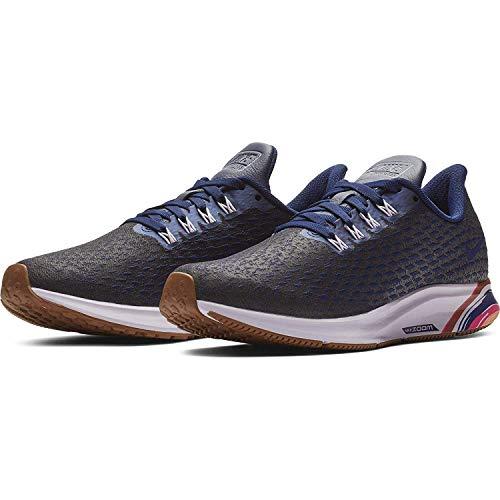 Nike Air Zoom Pegasus 35 Premium Zapatillas de correr para mujer, azul vacío/azul real profundo, apenas uva
