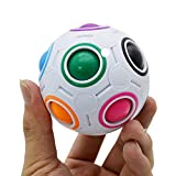 Ruiting Rainbow Ball Magic Cube Fidget Toy Puzzle Magic Rainbow Bola Descompresión Toy (Random Color) 1 PC