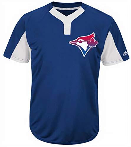 Majestic Toronto Blue Jays Premier Eagle Cool Base Herren 2-Knopf-Trikot, blau, Small