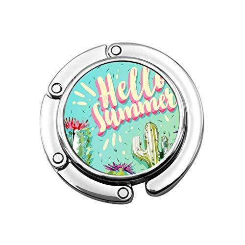 Gancho para Monedero Plegable Hello Summer Cactus Set Bolso Plegable mínimo Colgador de Mesa-Bolsa Colgador