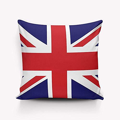 Mo34naBacon - Funda de almohada decorativa de 40,6 x 40,6 cm, diseño de bandera británica de Inglaterra