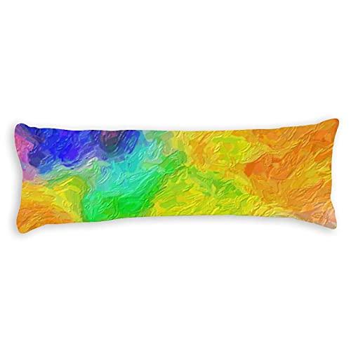 Promini Funda de almohada para el cuerpo de la paleta de pintura, cojín con cierre de cremallera oculto, para sofá, banco, cama, decoración del hogar, 50,8 x 137,2 cm