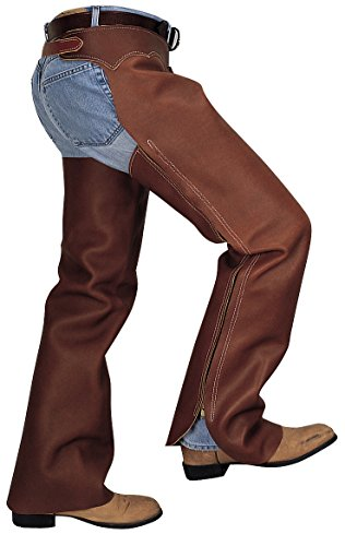 Weaver Leather Shotgun Full Grain Leather Work Chaps, Brown, Small