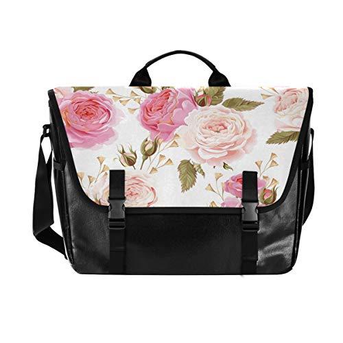 Hunihuni - Bolso de Mensajero, diseño de Flores y Rosas, de Lona, par