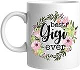 Queen54ferna Tasse à thé en céramique Motif couronne de fleurs