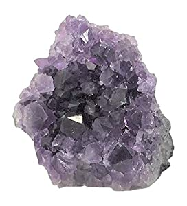 Superior Amethyst Cluster - 1/2 to 1 lb - Uruguayan Amethyst Crystals. Includes a Bonus 3 inch Selenite Wand in a Velvet Bag.