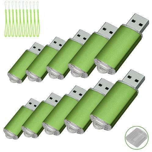 10PCS USB-Flash Drive USB 2.0 Memory Stick Memory Drive Pen Drive grün 512 MB