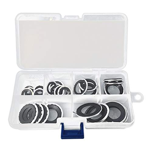 WULE Air Conditioner Pump Washer 30Pcs A/C Compressor Sealing Gasket Washer Set O Ring Assortment Repair Tool (Color : Black)