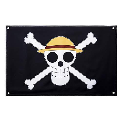 SGOT One Piece Luffy's Strohhut Piratenflagge Party Dekoration Banner Gartenfahne Anime Liebhaber 60 * 90cm(1 pcs)
