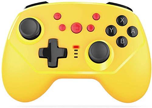 ZGYQGOO Game Cubes Controllersd, combiné Chargement pour Manette Jeu Type C, commutateur Manette Vibrations pour Manette Jeu pour contrôleur, Manette Jeu Bluetooth, Manette Jeu sans Fil, Jaune