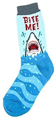 Foot Traffic Women's Novelty Animal Socks, Cute and Comfy Socks, Women's Shoe Sizes 4–11, Bite Me