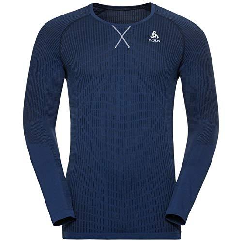 [Odlo] クルーネック ブラッコムライト ロングスリーブシャツ 312382 メンズ ダイビングネイビー X ソーダ...