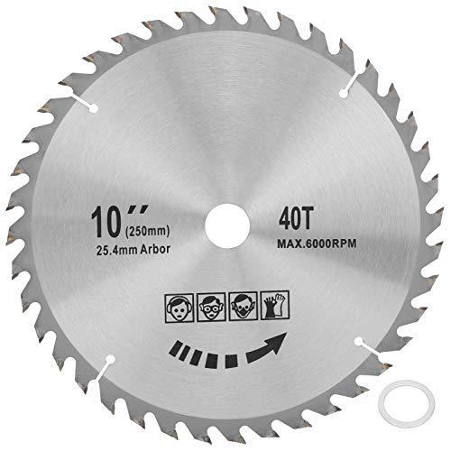 Hojas de sierra circular de 10 x 40T, discos de corte redondos, herramienta de carpintería de carburo cementado para máquina de corte, sierra de mesa, máquina de acero, 254 mm