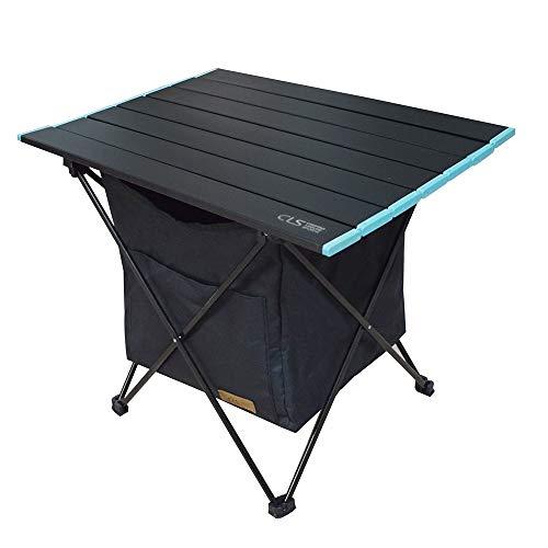 REAYOU Camping Tisch Klappbar, Leichtgewicht Tisch Faltbar Aluminium Campingtisch mit Tasche (Black, M)
