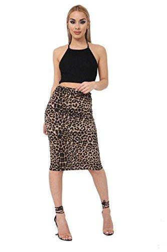 javox fashion Falda - para mujer Estampado De Leopardo 52