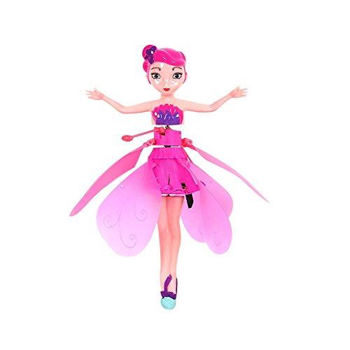 SGerste - Muñecas voladoras electrónicas para bebé, juguetes voladores, muñecas de hada infrarrojas, control de inducción para niñas, regalo de cumpleaños, regalo de Navidad