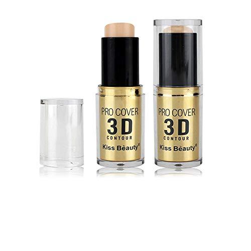 Nourich Nude Maquillage Stick Correcteur Fondation, All Day Flawless Base de maquillage pour le visage et anti-cernes, Fond de teint Résistant à l'eau Accord Parfait Anti-Cernes Correcteur (03#)