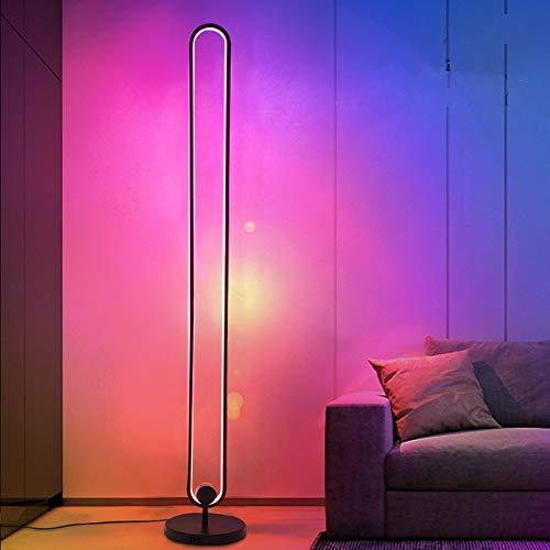 Ydshyth Led Stehlampe Dimmbar Mit Fernbedienung, Für Wohnzimmer Schlafzimmer Farbwechsel Lichtsaeule RGB Farbtemperaturen Und Helligkeit Stufenlos Dimmbar, 20w
