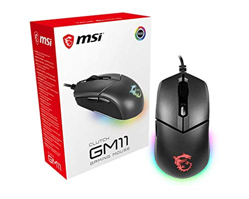 MSI Gaming 5000 Adjustable DPI RGB USB Gaming Grade Optical Wired Gaming Mouse (Clutch GM11)