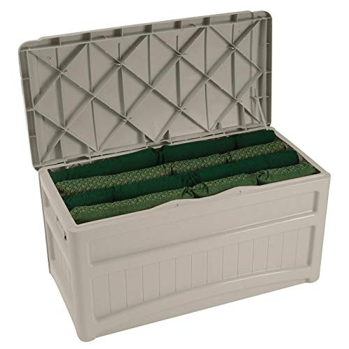 73-Gallon Medium Deck Box - Lightweight Resin Indoor/Outdoor Storage Container and Seat...