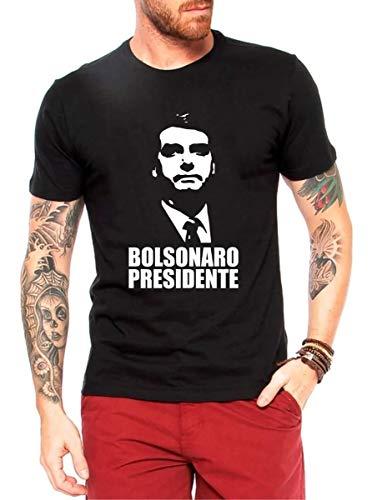 Camisa Bolsonaro Presidente Camiseta Blusa Preta (G)