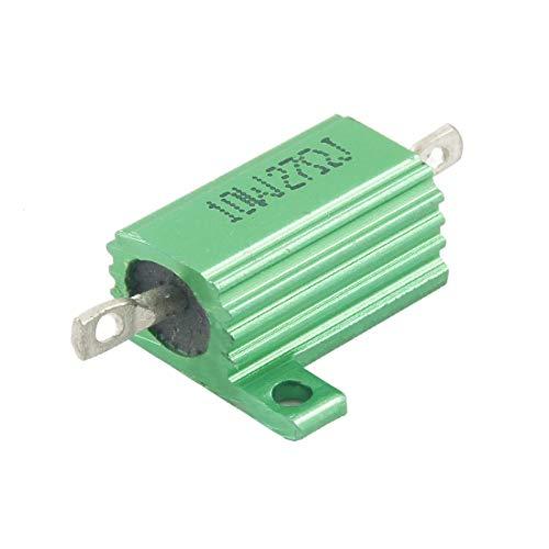 New Lon0167 Verde 10 Destacados vatios 27 ohmios eficacia confiable 5% Aluminio Caso de Shell Resistencia de alambre enrollado(id:957 dd 94 10c)