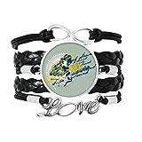 DIYthinker l'âme de Bonne Musique Guitare Graffiti Street Bracelet Amour Bijoux Cuir Bracelet