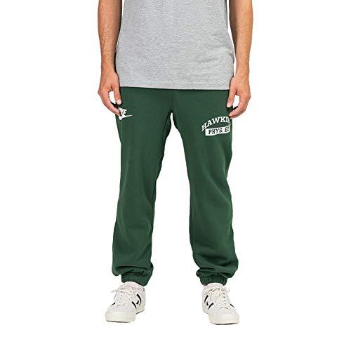 Nike メンズ ストレンジャー・シングス ホーキンズ ハイスクール フィイズ エド スウェットパンツ グリーン/ホワイト サイズ XX-Large グリーン