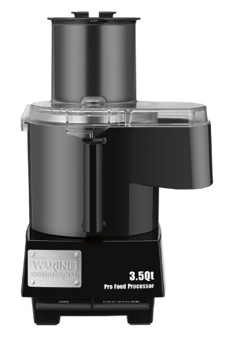 Waring Commercial WFP14SC Batch Bowl and Continuous Food Processor with LiquiLock Seal System, 3-1/2-Quart