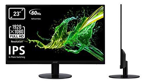 """Acer SA230bid Monitor da 23"""", 16:9, IPS Panel, Risoluzione 1920x1080, Luminosità 250 cd/m2, Response Time 4 ms, Input: VGA+DVI (w/HDCP)+HDMI(1.4), Nero"""