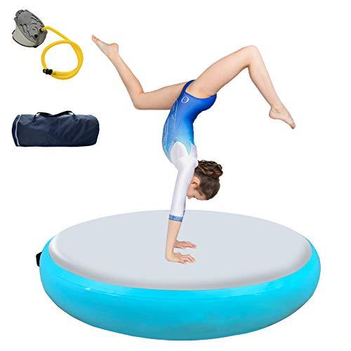 Airspot Air Track Matte 20 cm Höhe, Aufblasbare Gymnastic Tumbling Matten, Gymnastikmatte mit Tragetasche & Pumpe, Trainingsmatte, Sportmatte Yogamatte (Grün)