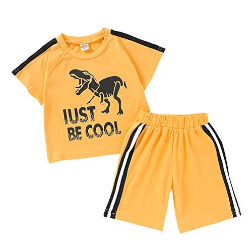 Comie Ropa de bebé, conjunto de ropa para recién nacidos, body de manga corta, pantalones, sudadera de algodón, monos para bebés, conjuntos de ropa unisex para niños. amarillo 120 cm