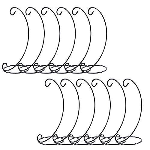 Panthem - 12 x supporti in metallo a forma di L per appendere decorazioni di Natale